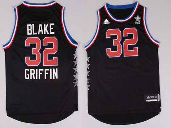 Mens Nba Nyc 2015 All Star West Los Angeles Clippers #32 Griffin Black Jersey