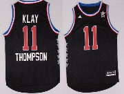 mens nba nyc 2015 all star west Golden State Warriors #11 Klay Thompson black jersey