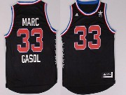 Mens Nba Nyc 2015 All Star West Vancouver Grizzlies #33 Gasol Black Jersey