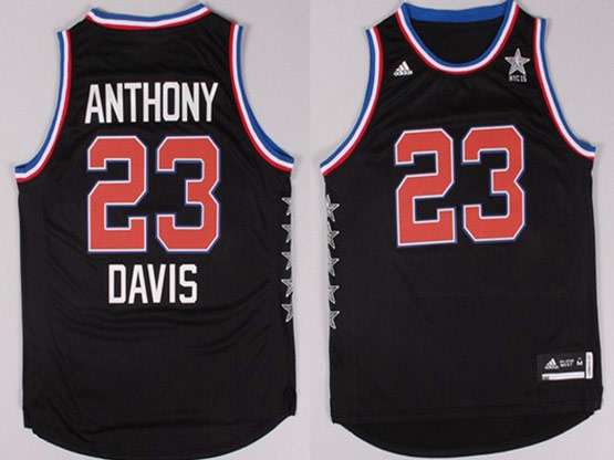 Mens Nba Nyc 2015 All Star West Charlotte Hornets #23 Davis Black Jersey