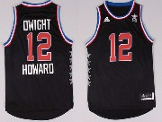 Mens Nba Nyc 2015 All Star West Houston Rockets #12 Howard Black Jersey
