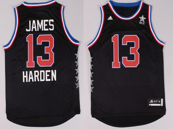 Mens Nba Nyc 2015 All Star West Houston Rockets #13 Harden Black Jersey