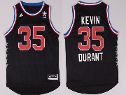 Mens Nba Nyc 2015 All Star West Oklahoma City Thunder #35 Durant Black Jersey