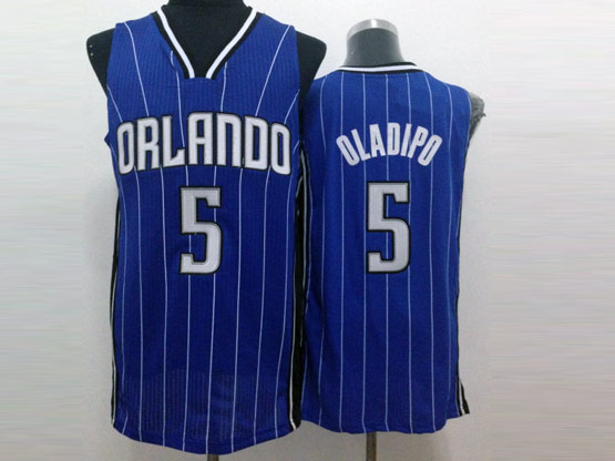 Mens Nba Orlando Magic #5 Oladipo Blue Stripe Jersey