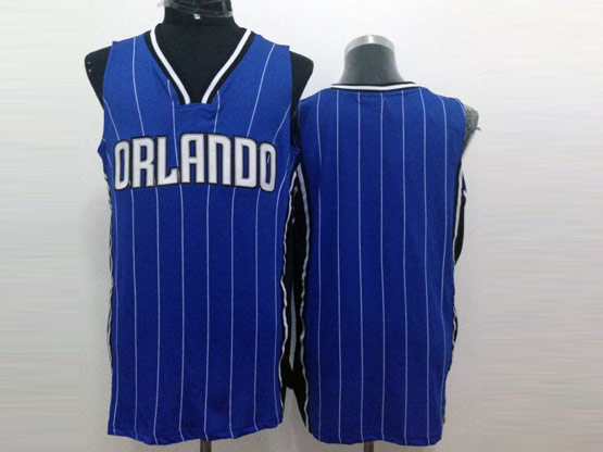 Mens Nba Orlando Magic (blank) Blue Stripe Jersey