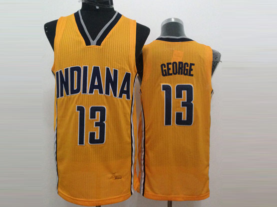Mens Nba Indiana Pacers #13 George Yellow Jersey