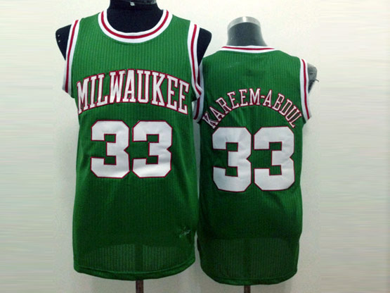 Mens Nba Milwaukee Bucks #33 Kareem-abdul Green Throwbacks Jersey (m)