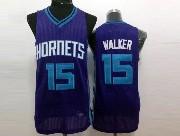 Mens Nba Charlotte Hornets #15 Walker Purple Jersey