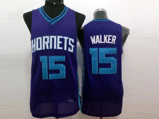 Mens Nba Charlotte Hornets #15 Walker Purple Jersey