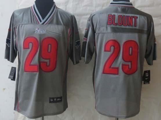 mens nfl new England Patriots #29 LeGarrette Blount gray vapor elite jersey