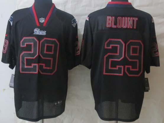 mens nfl new England Patriots #29 LeGarrette Blount lights out black elite jersey