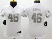 Women  Nfl Washington Redskins #46 Morris White (silver Number) Platinum Limited Jersey