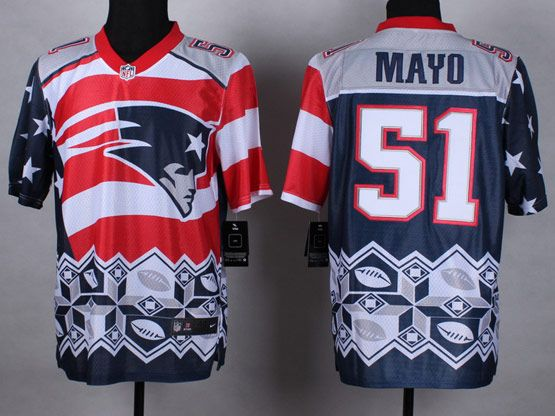 Mens Nfl New England Patrio #51 Mayo Blue&white&red 2015 Noble Fashion Elite Jersey