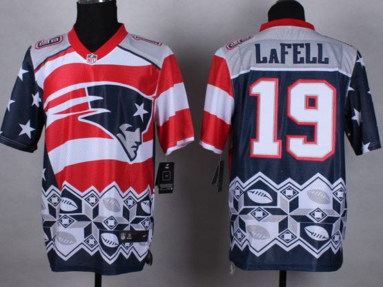 Mens Nfl New England Patrio #19 Lafell Blue&white&red 2015 Noble Fashion Elite Jersey