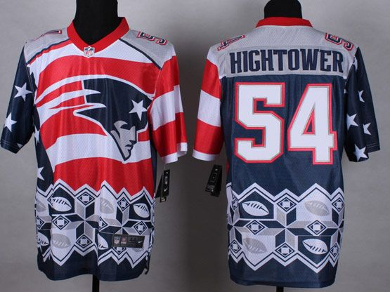 Mens Nfl New England Patrio #54 Hightower Blue&white&red 2015 Noble Fashion Elite Jersey