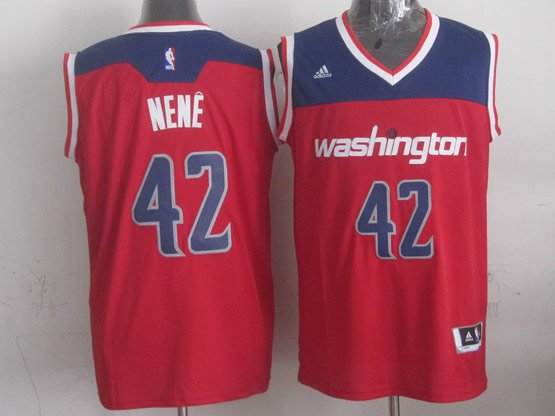 Mens Nba Washington Wizards #42 Nene Red 2014-15 New Swingman Alternate Jersey