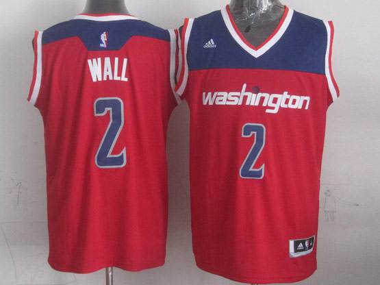 Mens Nba Washington Wizards #2 John Wall Red 2014-15 New Swingman Alternate Jersey