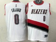 Mens Nba Portland Trail Blazers #0 Lillard White (blazers) Jersesy