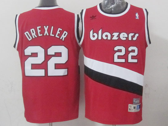 Mens Nba Portland Trail Blazers #22 Drexler Red (blazers) Hardwood Throwback Jersesy