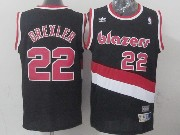 Mens Nba Portland Trail Blazers #22 Drexler Black (blazers) Throwbacks Jersesy