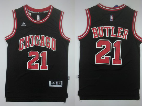 Mens Nba Chicago Bulls #21 Butler ((chicago) Black Jersey