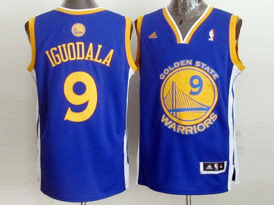 Mens Nba Golden State Warriors #9 Iguodala Blue Jersey
