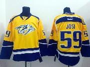 Mens reebok nhl nashville predators #59 josi yellow (2014 new) Jersey