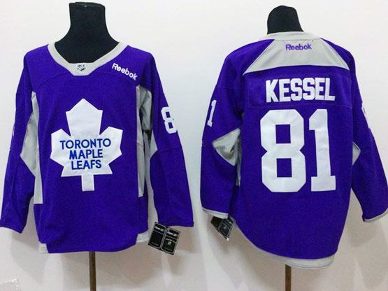 Mens reebok nhl toronto maple leafs #81 kessel purple (2015 new train) Jersey