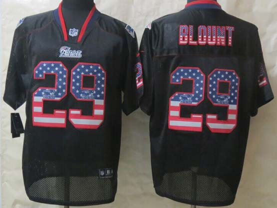 mens nfl new England Patriots #29 LeGarrette Blount black (2014 usa flag fashion) elite jersey