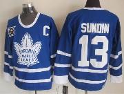 Mens nhl toronto maple leafs #13 sundin blue 75th throwbacks Jersey