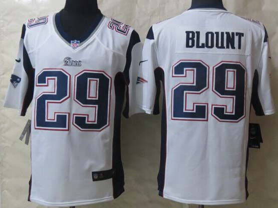 mens nfl new England Patriots #29 LeGarrette Blount (new) white game jersey