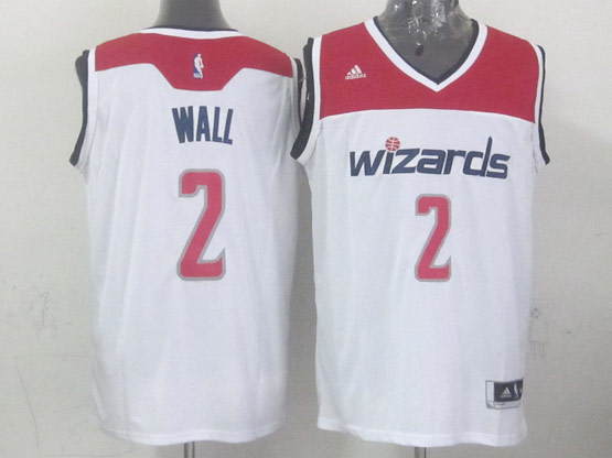 Mens Nba Washington Wizards #2 Wall White 2014-15 New Swingman Jersey