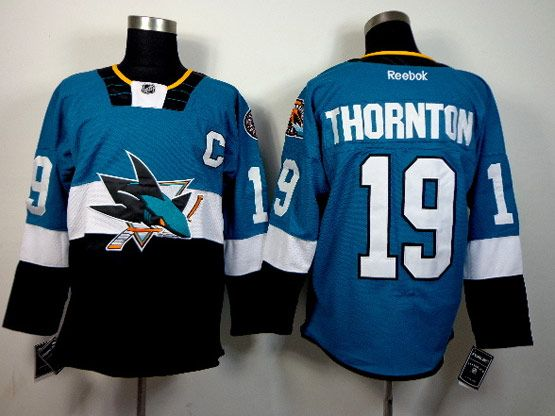 Mens reebok nhl san jose sharks #19 thornton green (2015 stadium series) Jersey