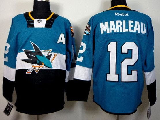 Mens reebok nhl san jose sharks #12 marleau green (2015 stadium series) Jersey