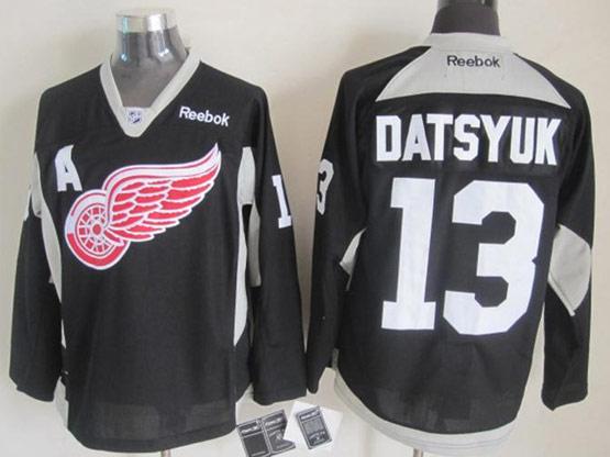 mens reebok nhl Detroit Red Wings #13 Pavel Datsyuk black (2015 new train) jersey