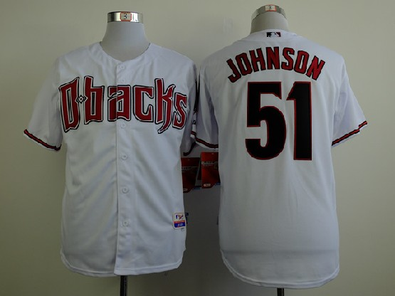 Mens Mlb Arizona Diamondbacks #51 Randy Johnson White Jersey