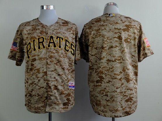 Mens mlb pittsburgh pirates (blank) cole camouflage painting Jersey