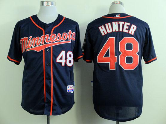 Mens Mlb Minnesota Twins #48 Hunter Dark Blue (minnesota) Jersey