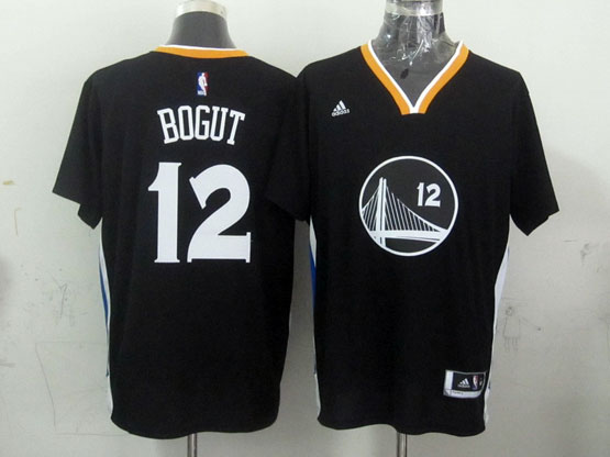 Mens Nba Golden State Warriors #12 Bogut Black (short Sleeve) Jersey