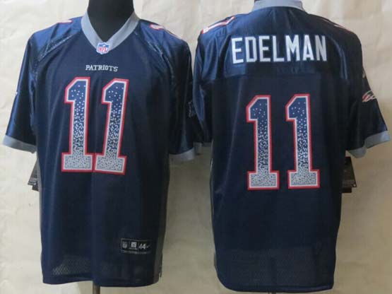 mens nfl New England Patriots #11 Julian Edelman (2015 new) drift fashion blue elite jersey