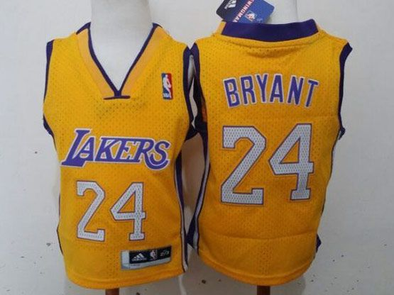 Kids Nba Los Angeles Lakers #24 Bryant Gold Jersey