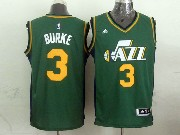 Mens Nba Utah Jazz #3 Burke Green Revolution 30 Jersey (p)