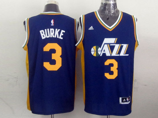 Mens Nba Utah Jazz #3 Burke Purple Revolution 30 Jersey (p)