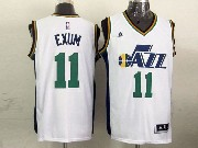 Mens Nba Utah Jazz #11 Exum White Revolution 30 Jersey (p)