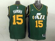 Mens Nba Utah Jazz #15 Favors Green Revolution 30 Jersey (p)