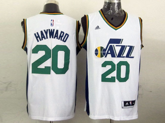 Mens Nba Utah Jazz #20 Hayward White Revolution 30 Jersey (p)
