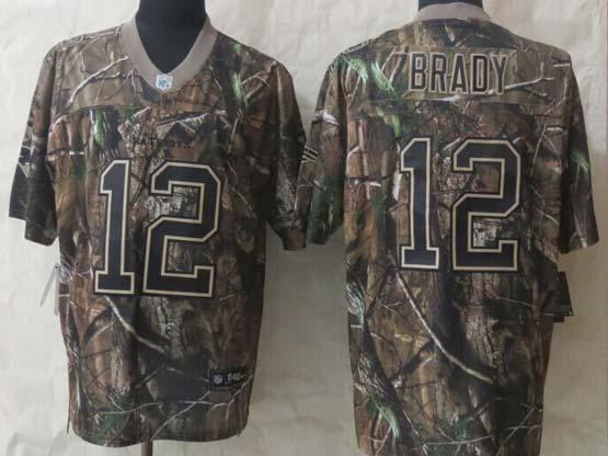 mens nfl New England Patriots #12 Tom Brady camo (2015 new) elite jersey