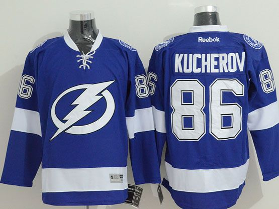 Mens reebok nhl tampa bay lightning #86 kucherov ligh blue Jersey