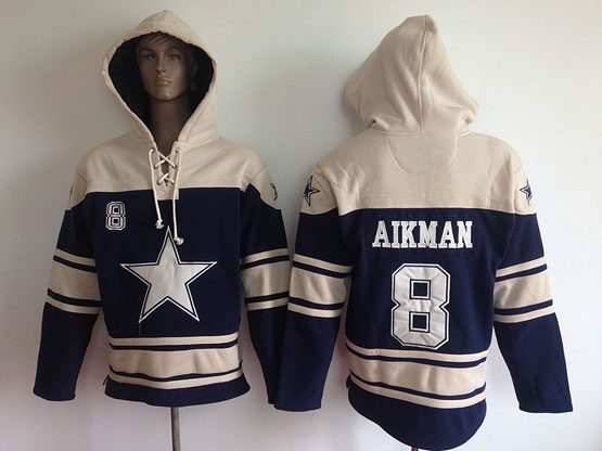 youth nfl Dallas Cowboys #8 Troy Aikman blue (team hoodie) jersey