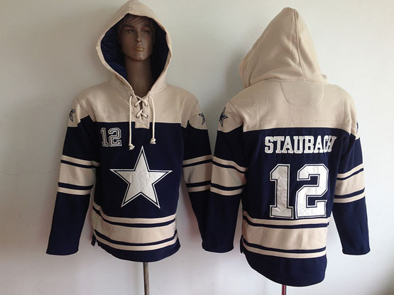 Youth Nfl Dallas Cowboys #12 Staubach Blue (team Hoodie) Jersey